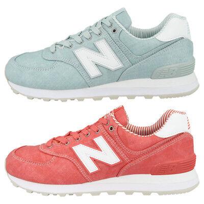 Beach Womens Schuhe (New Balance WL 574 CH Beach Chambray Women Schuhe Damen Freizeit Sneaker WL574CH)