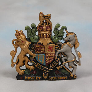 Royal Coat of Arms Wall Plaque Crest Warrent Queen Elizabeth British