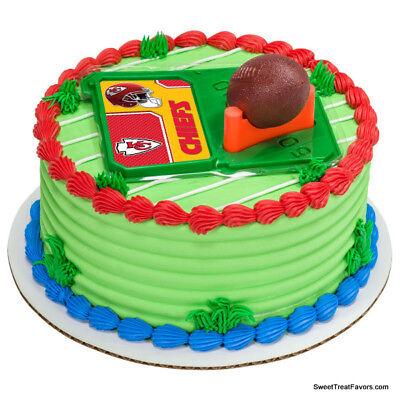 Kansas City Chiefs Football NFL Cake Topper Decoration Supplies Set Cupcake NEW (Cupcake City)