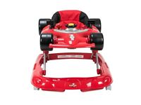 Race car baby walker barely used need gone asap