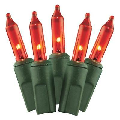 3-Amber Colored 100-Bulb Mini Incandescent 21' Christmas Tree Light Set 2980-06 ()
