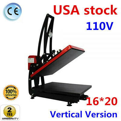16 X 20 Clamshell Auto Open T Shirt Heat Press Machine Vertical Version 110v