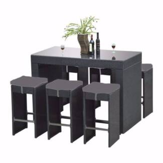 Outdoor wicker bar set garden gumtree australia free for Outdoor furniture gumtree
