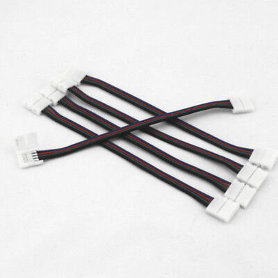 5 Pcs 10mm 4-pin Pcb Connector Cable For Rgb 5050 3528 Led Strips Light Lamps