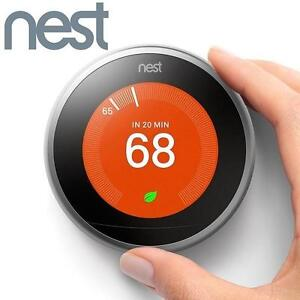 NEW OB NEST LEARNING THERMOSTAT 3RD GENERATION HEATING VENTING COOLING HOME NEW OPEN BOX 111957484