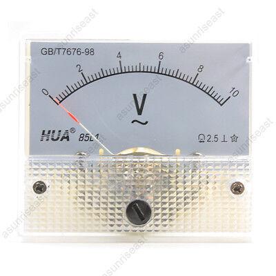 1 Ac10v Analog Panel Volt Voltage Meter Voltmeter Gauge 85l1 Ac0-10v