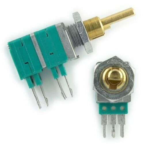 2pcs  ALPS Precision DUAL  20K Linear Taper, 100k  Potentiometer 9.5mmX11mmX17mm