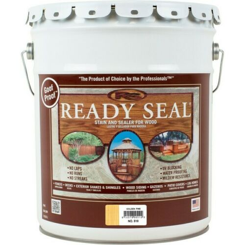 Ready Seal 510 Exterior Wood Stain and Sealer — Golden Pine, 5 Gallons