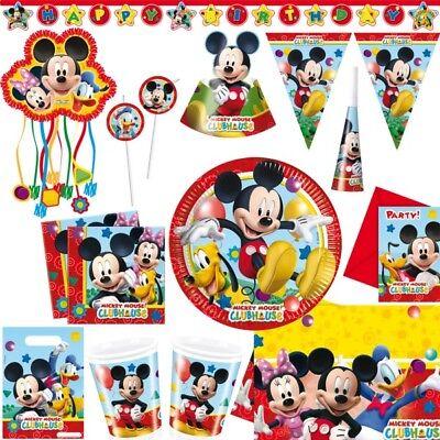 Micky Maus Kindergeburtstag Party Deko Mickey Mouse Minnie Pluto Geburtstag Set ()