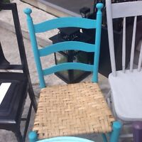 VINTAGE PAINTED CHAIRS $5 each