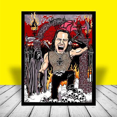 GLENN DANZIG heavy metal POSTER ART, misfits, artist signed, concert band, photo