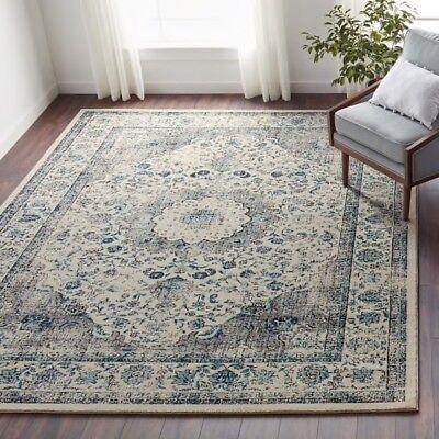 Maison Rouge Samar Oriental Grey Ivory Distressed Rug Carpet 8' x 10' - Maison Grey Rug