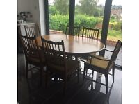 Stag extendable dining table & 6 chairs