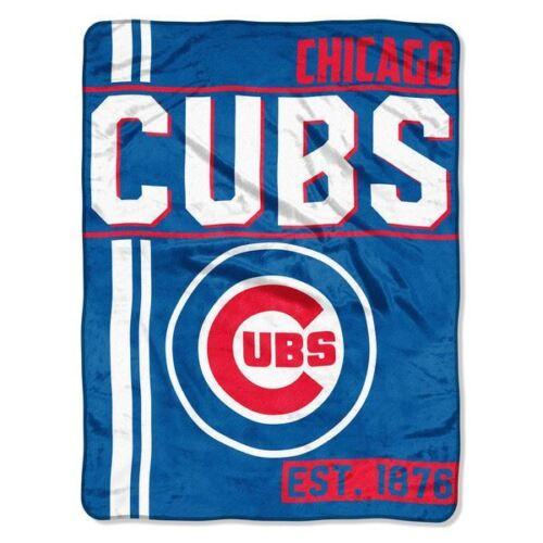 Chicago Cubs Plush Throw Blanket Walk Off