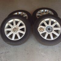 Set of 4 Winter Tires on Alloy Wheels