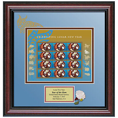 USPS New Lunar New Year: Year of the Ram Stamp Framed Art