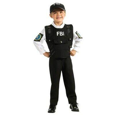 New FBI Agent Child Costume Small 3-4