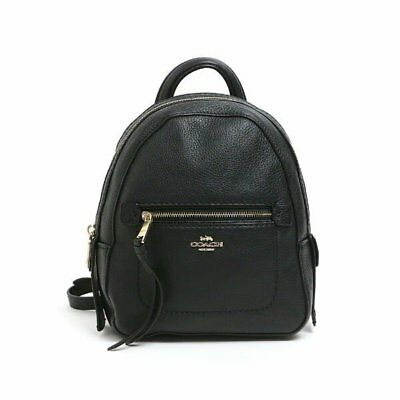 NWT Coach F30530 Andi Backpack Crossbody Handbag in Pebble Leather Black
