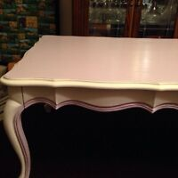 Beautiful Queen Anne Coffee Table in French Lilac