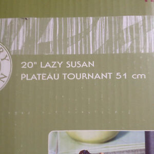 Never used, or out of the box lazy Susan for patio table.