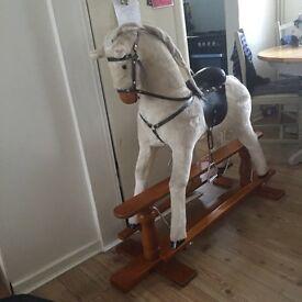 Off white rocking horse!