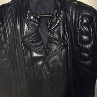 Harley Motorcycle Leather Jacquet  Black