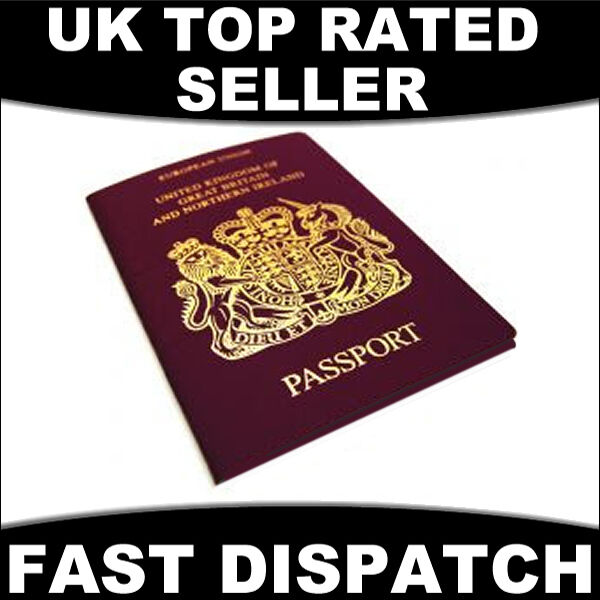 UK GB EUROPEAN PASSPORT COVER PROTECTER WALLET HOLDER LEATHER UNITED KINGDOM