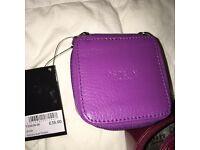 Purple leather Osprey trinket box