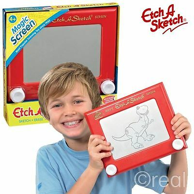 New Red Etch A Sketch Classic Magic Screen Drawing Creative Toy Official