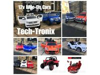 Open Till 7.30, Large Selection Of Kids-Ride-On Cars From, £100, Parental Remote & Self Drive