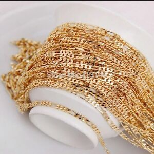 18k gold plated chain - chaine plaquer or