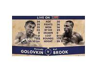 Kell Brook v Golovkin ticket