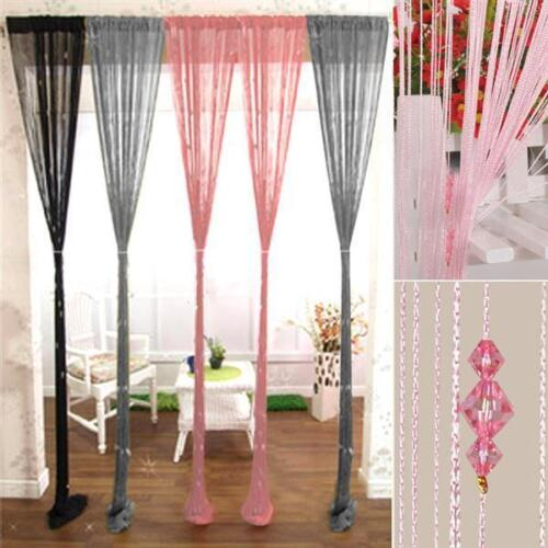 drop beaded string window door curtain divider room blind