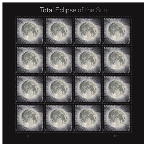 USPS New Total Eclipse of the Sun  pane of 16