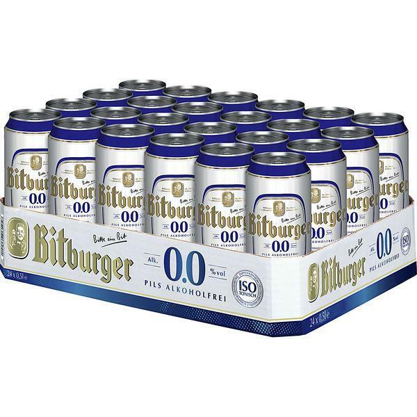 Bitburger Alkoholfrei 0,0%  0,50 L Dose, 24er Pack (24x0,50 L) Einweg-Pfand