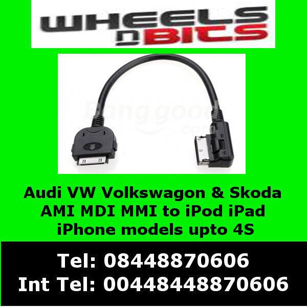 Vw Volkswagon Golf MK5/6/7 Passat CC Polo Tuiguan iPod iPhone iPad Adaptor