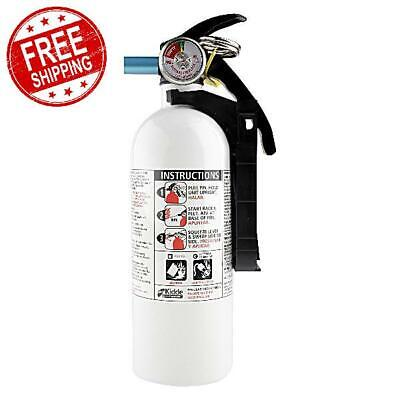 Fire Extinguisher 5-bc Disposable White Emergency Home Car Garage Kidde 3 Lb