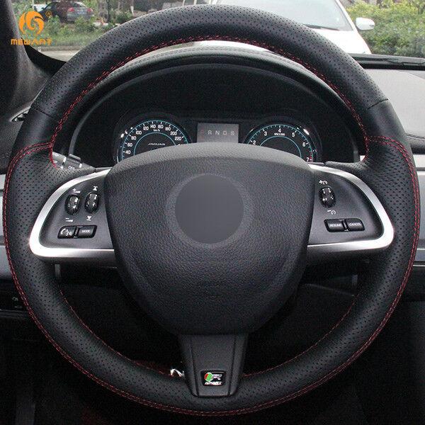 Jaguar Xf Sportbrake: Black Leather Steering Wheel Cover For Jaguar XF S