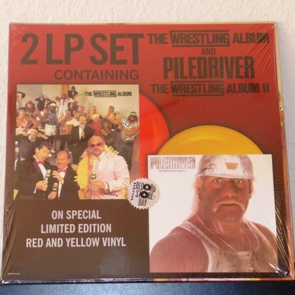 Various - The Wrestling Album/Piledriver, TWA2 / Doppel-LP ltd red yellow RSD US