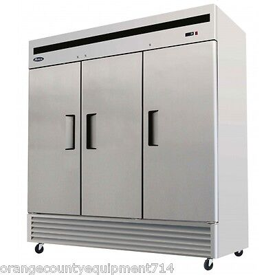 New 3 Solid Door Upright Refrigerator Atosa Mbf8508 2216 Commercial Cooler Nsf