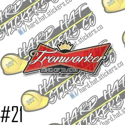 Ironworker King Of Trades Hard Hat Stickers3pack