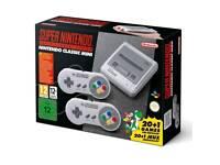 Super Nintendo classic mini - with box used twice