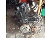 Pit bike upright engine