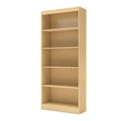 South Shore 7113768 Axess Collection 5-Shelf Bookcase Natural Maple NEW