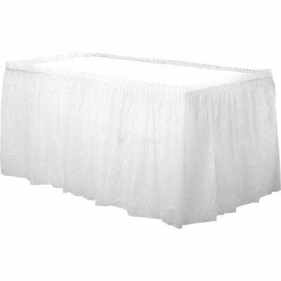 White Plastic Table Skirt