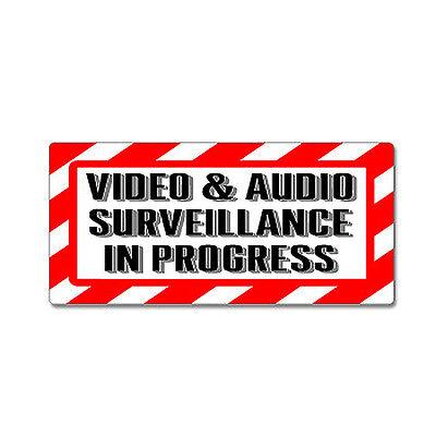 Video Audio Surveillance In Progress Sign - Alert Warning Sticker