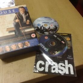 3 x DVD's - House Season ONE full set, Crash Dvd and Kidulthood Dvd