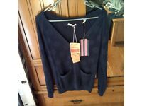 Jack wills navy cardigan BNWT RRP 59.50