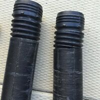 Perforated plastic pipe