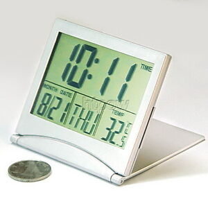 New LCD desktop Digital Calendar Alarm Clock with Snooze Thermometer